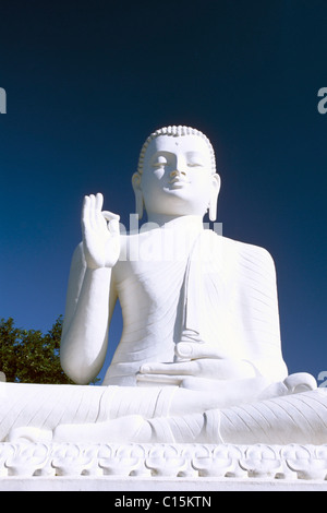 Statue of Buddha, Mihintale, Sri Lanka, South Asia - Stock Photo