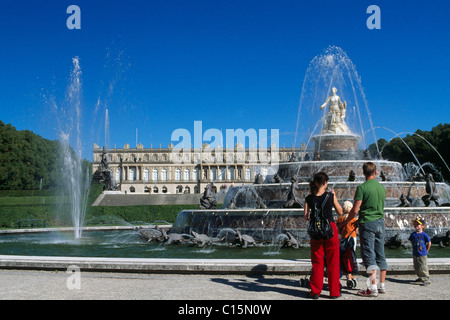 Herrenchiemsee Palace, Lake Chiemsee, Chiemgau, Bavaria, Germany, Europe - Stock Photo