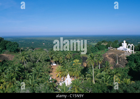 Temple, Sila Rock, Mihintale, Sri Lanka, South Asia - Stock Photo
