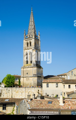 Church, Saint Emilion, Aquitaine, France - Stock Photo