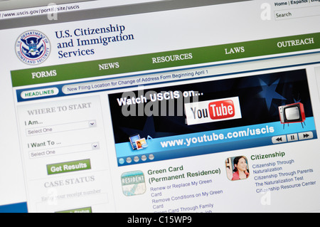 Department of Homeland Security, US Citizenship and Immigration Services - Stock Photo