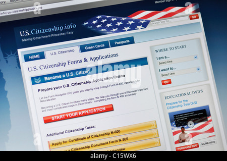 Department of Homeland Security, US Citizenship and Immigration Services, application - Stock Photo