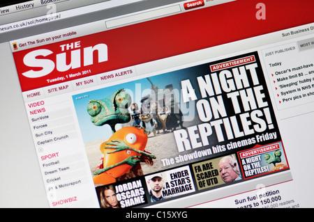 The Sun online news website - Stock Photo