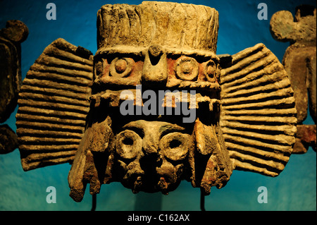 Exhibit in archaeological museum at Templo Mayor, Zocalo District, Mexico City, Mexico - Stock Photo
