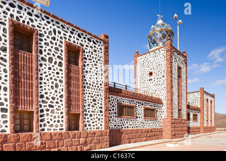 The lighthouse, El Faro de la Entallada, near Las Playitas or Las Playas on the Canary Island of Fuerteventura - Stock Photo