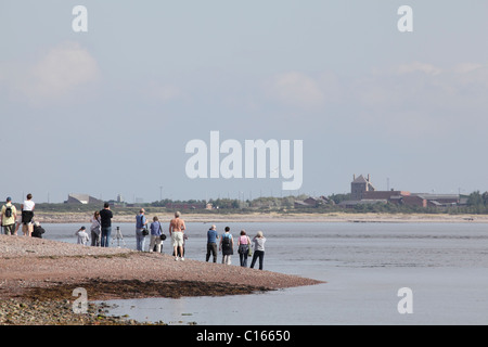 People watching for Bottle Nose Dolphins from Chanonry Point, Black Isle, Scotland, September 2010 - Stock Photo