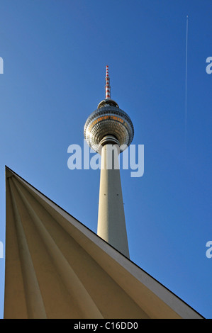 TV tower on Alexander Square, Berlin, Germany, Europe - Stock Photo
