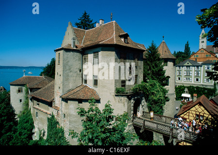 Castle Meersburg, Lake Constance, Bodensee, Baden-Wuertemberg, Germany, Europe - Stock Photo