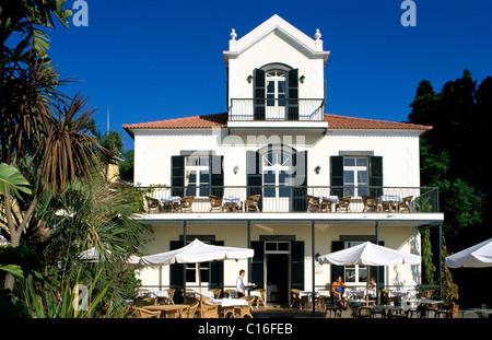 Breakfast Terrace, Quinta do Estreito Hotel, Estreito de Camara de Lobos, Madeira, Portugal, Europe - Stock Photo