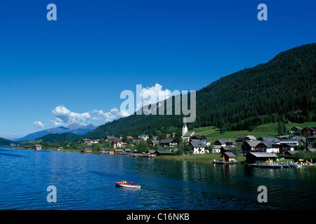 Techendorf, Lake Weissensee, Carinthia, Austria, Europe - Stock Photo