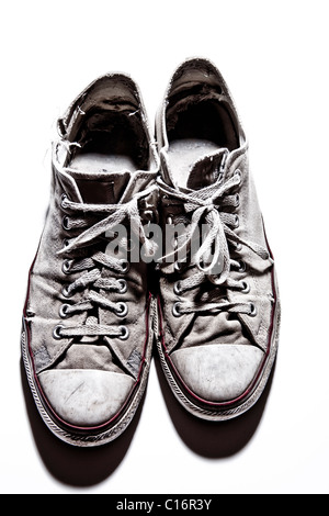 A pair of Converse All Star shoes - Stock Photo
