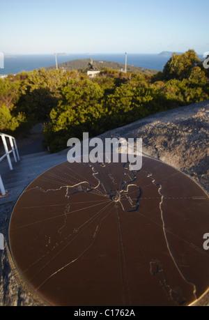 Map of Albany on Mount Clarence, Albany, Western Australia, Australia - Stock Photo