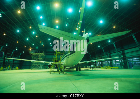 HDA-62520 : Aircraft in hangar ; India - Stock Photo