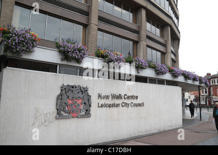 The New Walk Centre, Leicester City Council offices in Leicester, Leicestershire, England. - Stock Photo