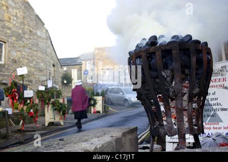 Grassington Dickensian festival, December, Yorkshire Dales, UK - Stock Photo