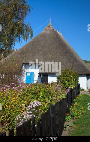 Parish widow house Great Zicker / Pfarrwitwenhaus Gross Zicker, Ruegen Island, Mecklenburg-Western Pommeria, Germany - Stock Photo