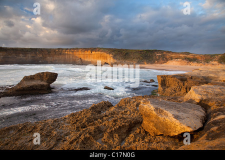 Loch Ard Gorge area, Port Campbell National Park, along the Great Ocean Road, Victoria, Australia - Stock Photo