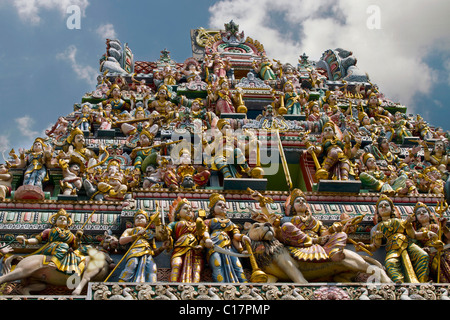 Sri Veeramakaliamman Hindu temple in Serangoon Road Singapore - Stock Photo