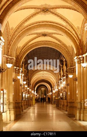 Freyung Passage, shopping arcade in Palais Ferstel, Palais Ferstel, Vienna, Austria, Europe - Stock Photo