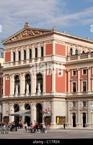 Musikverein, Musical Society, Gesellschaft der Musikfreunde, Society of Friends of Music, Vienna, Austria, Europe - Stock Photo