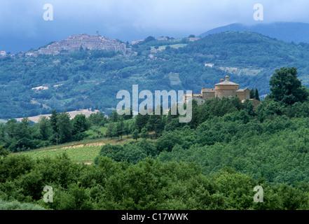 Chiusdino and Cappella di San Galgano, oratorio, rotunda, of Montesiepi, province of Siena, Tuscany, Italy, Europe - Stock Photo