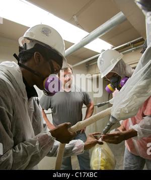 Asbestos Removal Training - Stock Photo