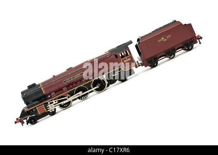 Vintage Hornby Dublo model railway locomotive 'City of London' with tender - Stock Photo