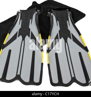 Cressi scuba diving fins - Stock Photo
