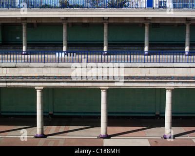 Eastbourne Art Deco Bandstand collonade - Stock Photo