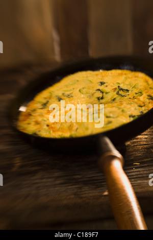 Zucchini omelet - Stock Photo
