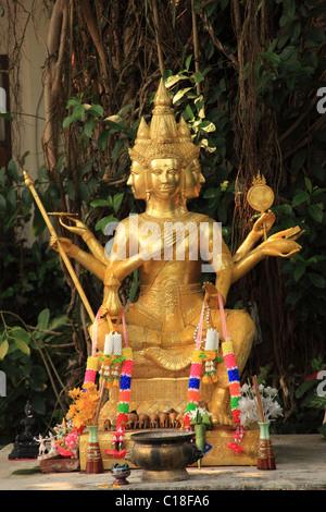 Chiang Mai, Wat Duang Dee, Thailand - Stock Photo