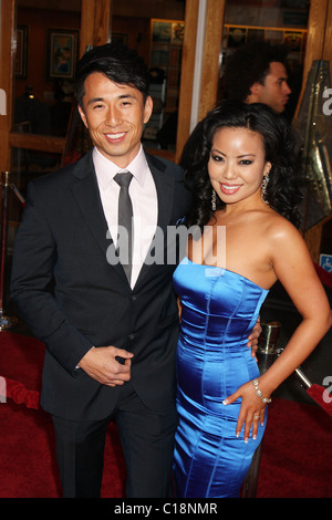 James Kyson Lee and guest World Premiere Of 'Fast & Furious' held at the Gibson Amphitheatre Universal City, California - Stock Photo