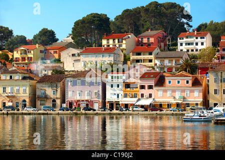 Mali Lošinj harbour, Lošinj Island Croatia - Stock Photo