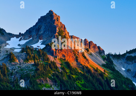 Pinnacle Peak, Mt. Rainier National Park, Washington, USA - Stock Photo