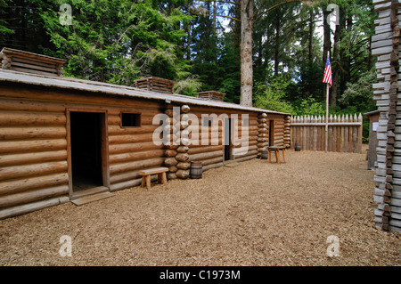 Log Cabins Fort Clatsop By Lewis And Clark Interpretive
