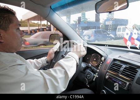 Panama City Panama Aeropuerto Tocumen airport PTY taxi driver transportation car vehicle Hispanic man driver job - Stock Photo