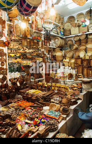 Showpieces at a store, Haridwar, Uttarakhand, India - Stock Photo