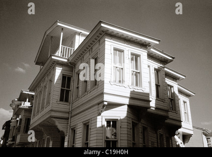 Beautiful renovated Ottoman house in Istanbul in Turkey in Middle East Asia. Housing Houses Architecture History - Stock Photo