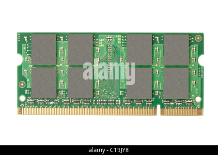 Ram memory isolated on white background - Stock Photo