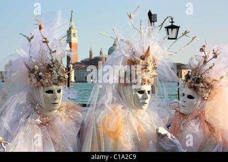 Carnival in Venice, Italy.   IT: Carnevale di Venezia, Italia.   DE: Karneval in Venedig, Italien.   FR: Carnaval - Stock Photo