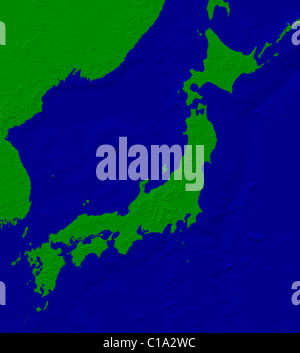 Japan Map - Stock Photo