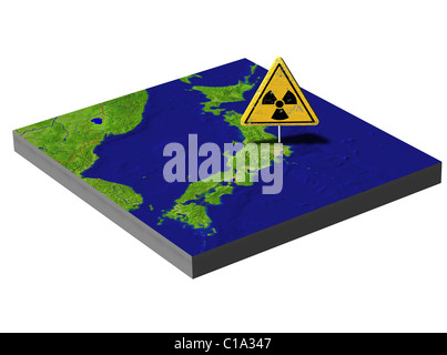 Symbolic image Nuclear disaster march 2011 japan Tokai - Stock Photo
