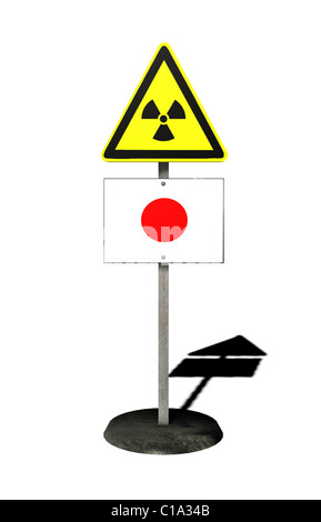 Symbolic image Nuclear disaster march 2011 japan - Stock Photo