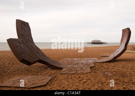 Passacaglia Sculpture Brighton Seafront Brighton Sussex England UK