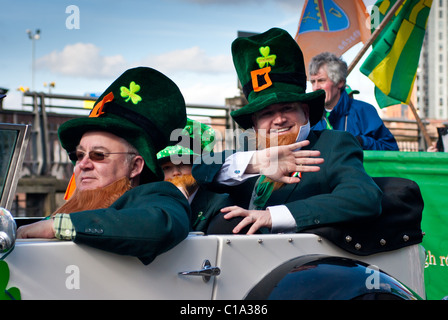 St Patricks Day Parade in Manchester - Stock Photo