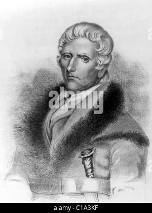 Daniel Boone American pioneer explorer hero - Stock Photo