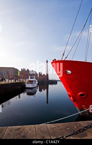 The Albert dock in Liverpool Merseyside UK - Stock Photo