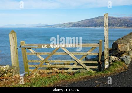 Looking across Barmouth Bay Gwynedd mid Wales UK United Kingdom GB Great Britain - Stock Photo