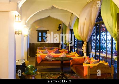 Lamu Palace Hotel, Old Stone Town, Lamu, Kenya - Stock Photo