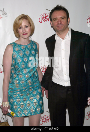 Lauren Ward and her husband Matthew Warchus Opening night for the Broadway play 'God Of Carnage' after party held - Stock Photo